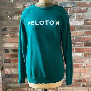 Peloton Green Logo Sweatshirt Sz Medium